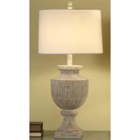 Avalon Carved Wood Table Lamp