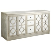 Circles Silver Cabinet