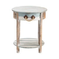 Nantucket 1 Drawer Weathered Wood Accent Table