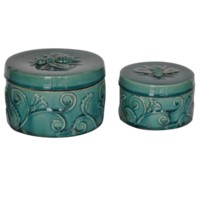 Round Ornate Boxes