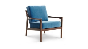Albin Lounge Chair (Covers sold separately), Walnut