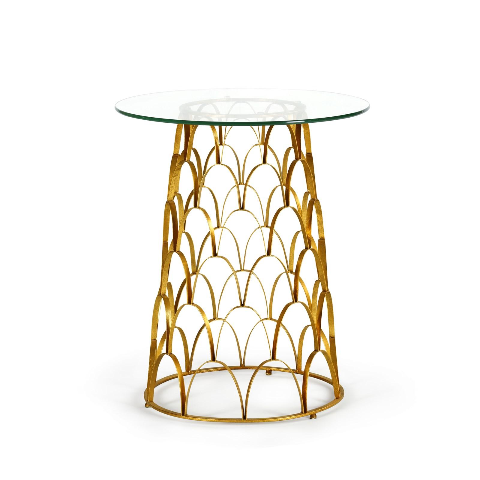 Amur Side Table, Gold