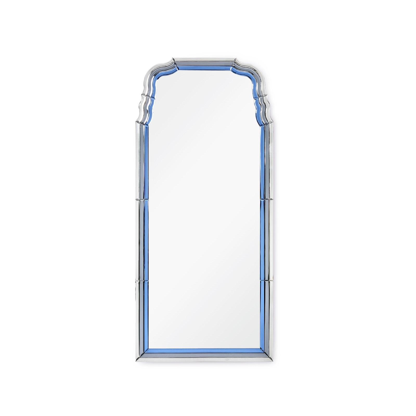 Anne Mirror Sapphire Blue Gray Bungalow 5