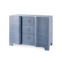 Bardot Large 3-Drawer, Navy Blue