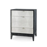 Borneo 3-Drawer Side Table, Black