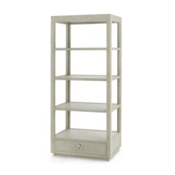 'Camilla Etagere, Moss Gray Tweed