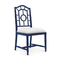 Chloe Side Chair, Navy Blue