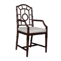 Chloe Armchair, Dark Walnut