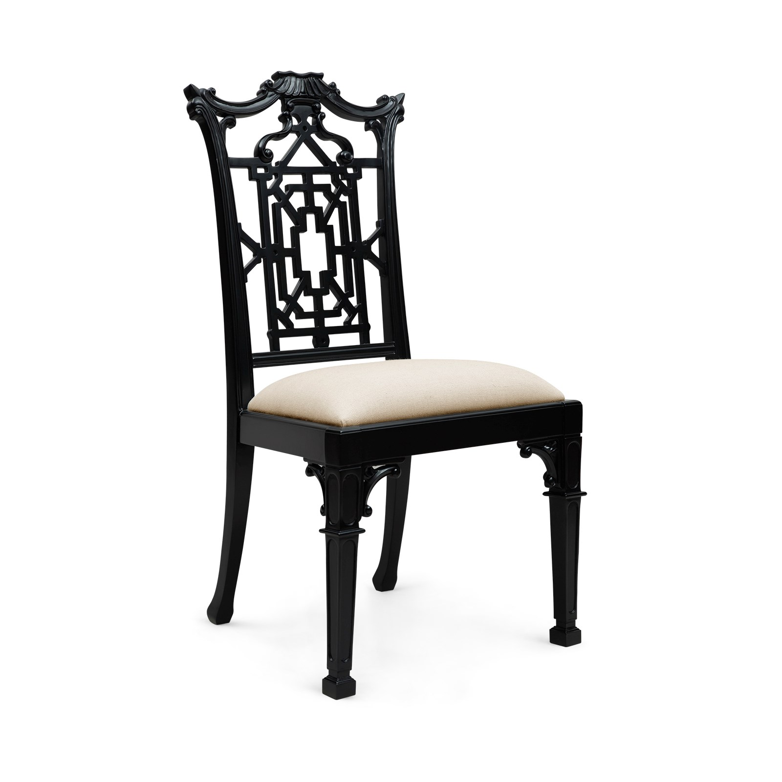 chippendale side chair black bungalow 5