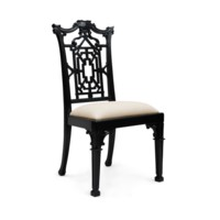 Chippendale Side Chair, Black