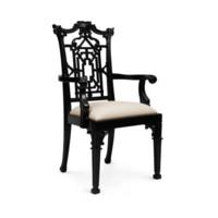 Chippendale Armchair, Black