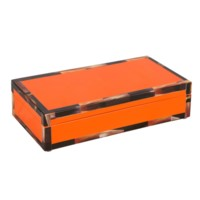 Cheval Rectangular Box, Orange