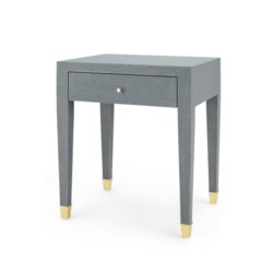 'Claudette 1-Drawer Side Table, Gray