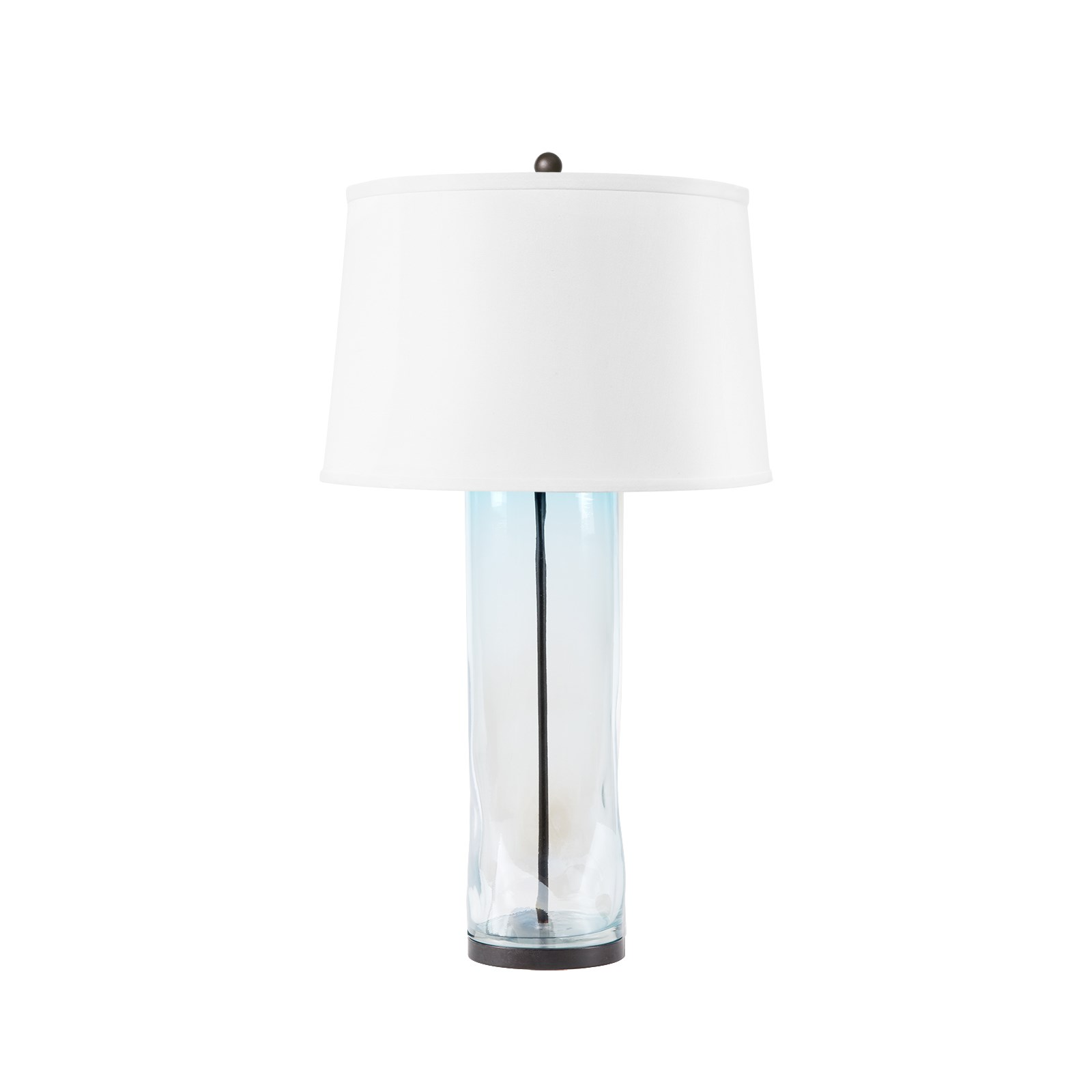 Clay Lamp (Lamp Only), Light Blue And Clear