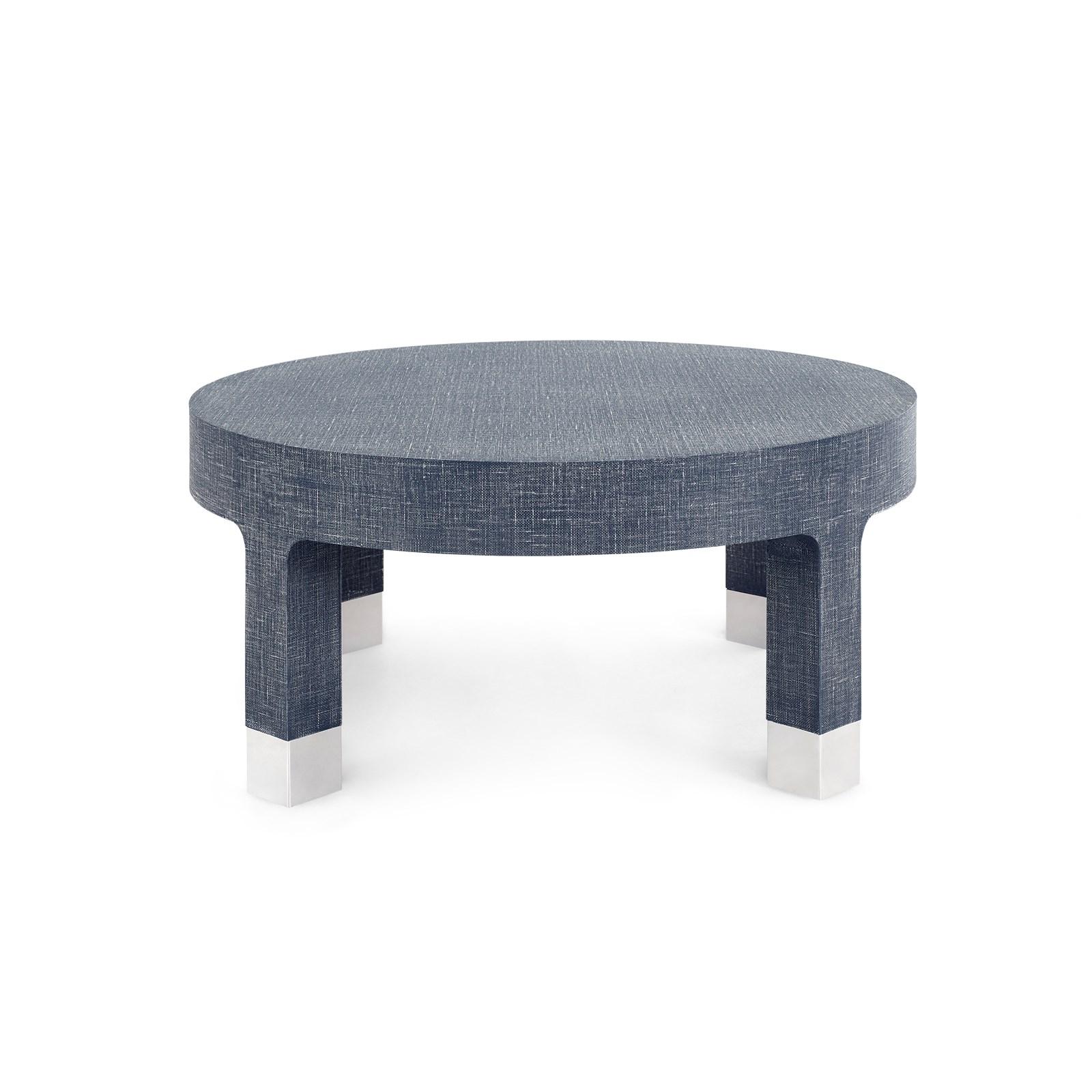 dakota round coffee table navy blue bungalow 5