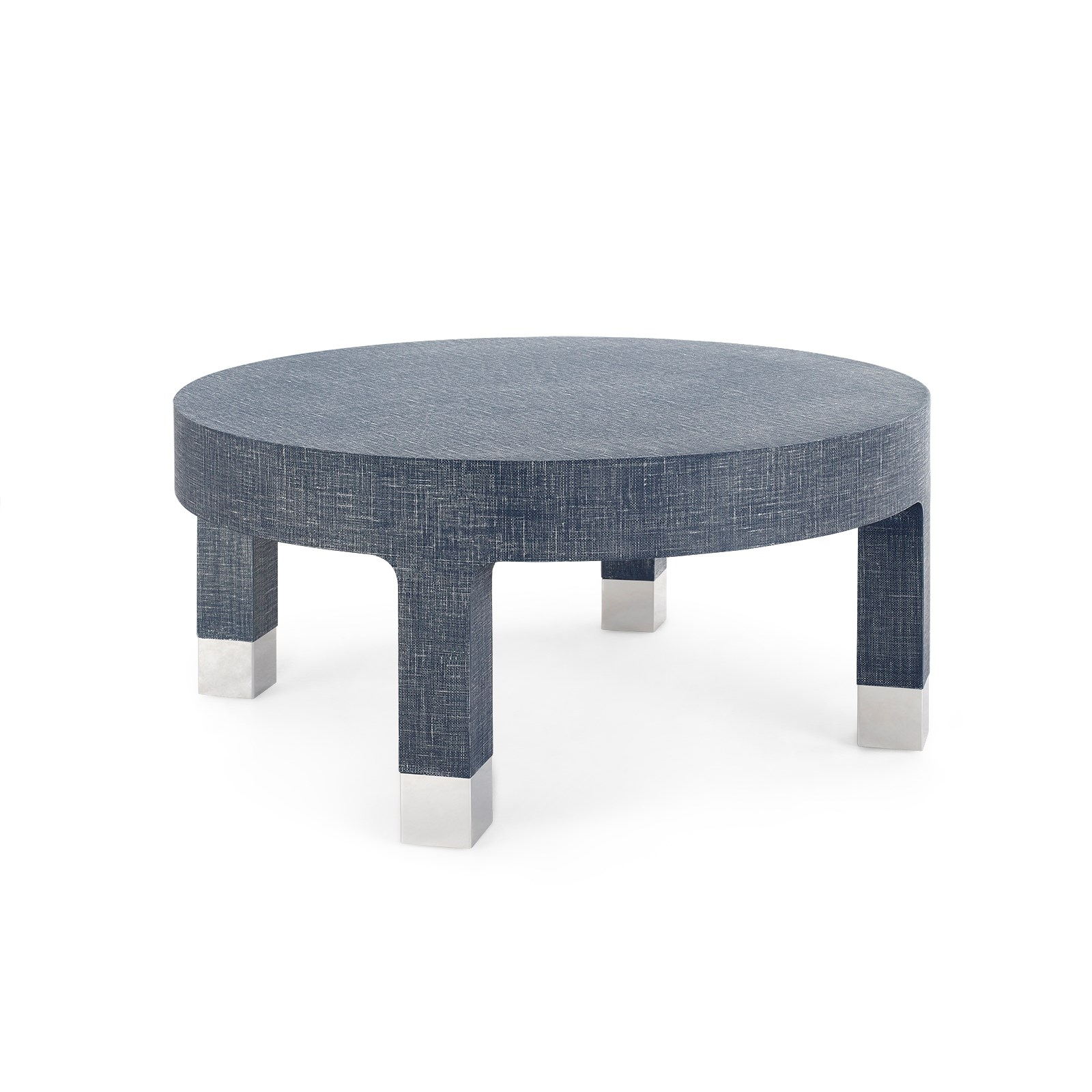 shop collection coffee tables dakota round coffee table navy blue