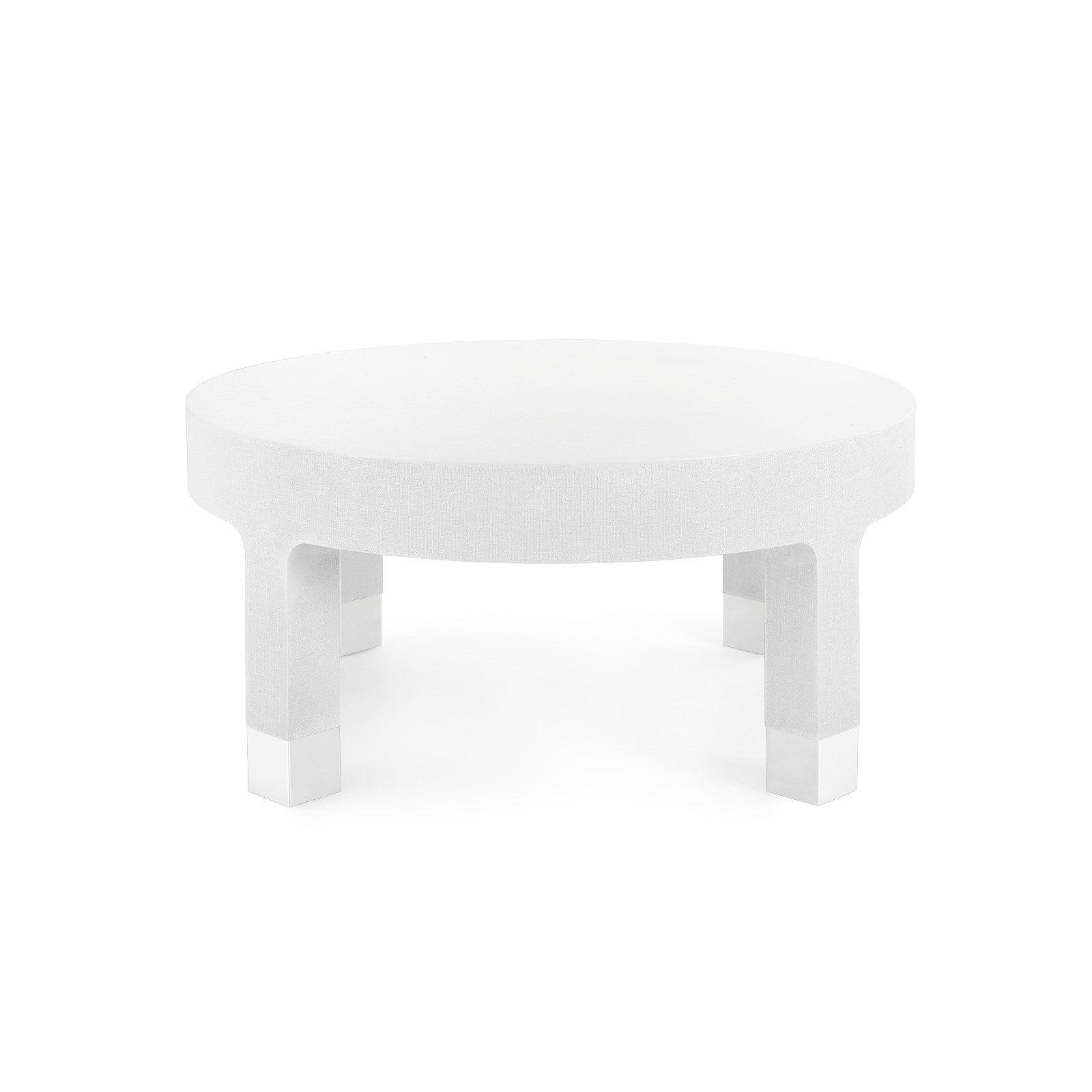 Dakota Round Coffee Table White Bungalow 5
