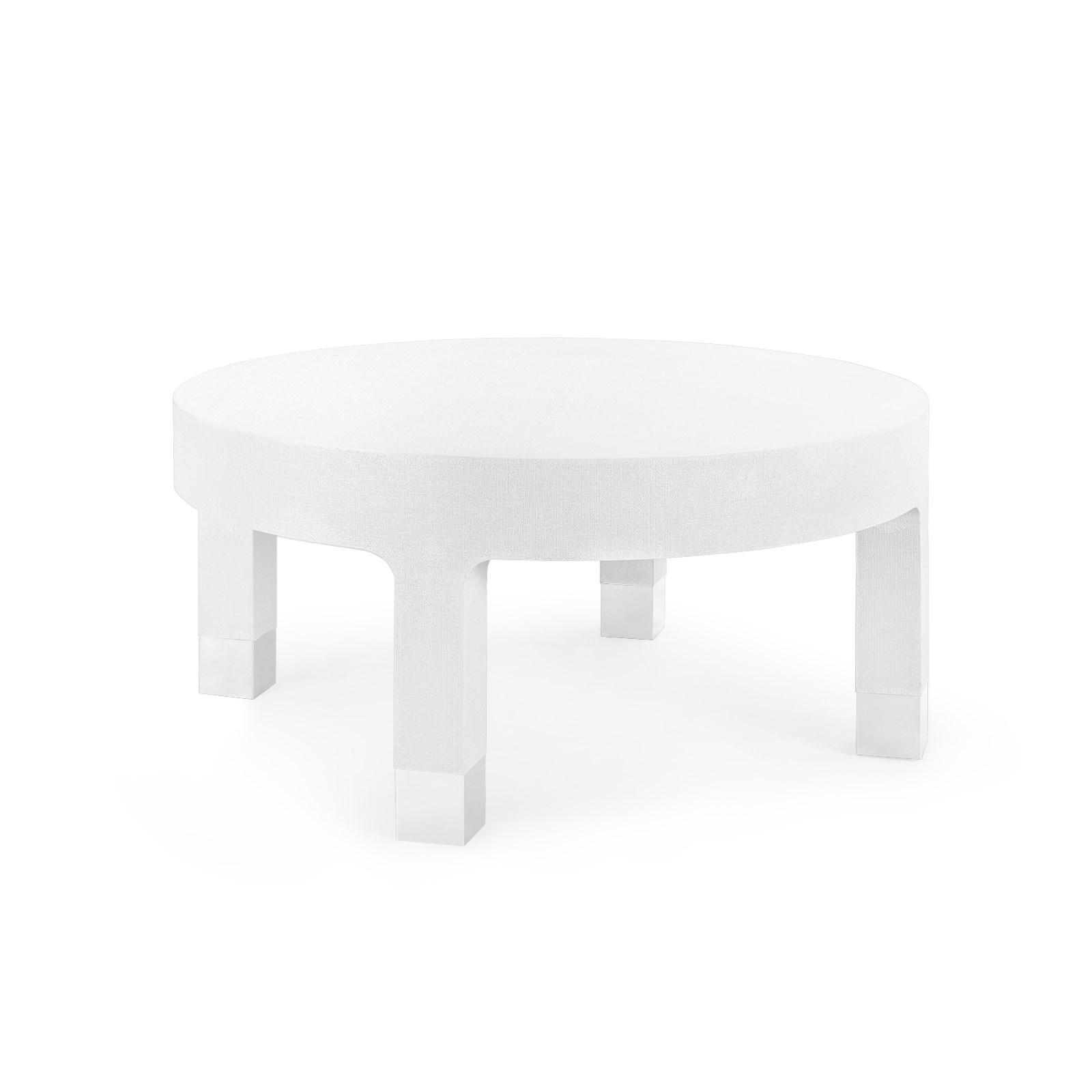 Dakota Round Coffee Table White Bungalow 5