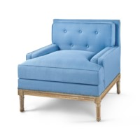 Davis Club Chair - Blue, Blue