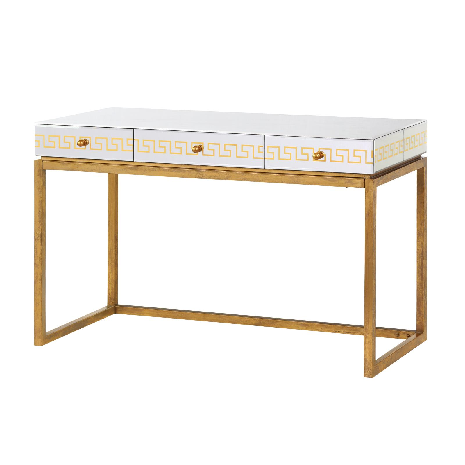 Well-liked Donatella Desk/Console Table, Antique Gold - Bungalow 5 II51