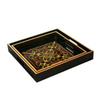Dressage Square Nesting Trays, Black
