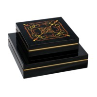 Dressage Square Boxes, Black
