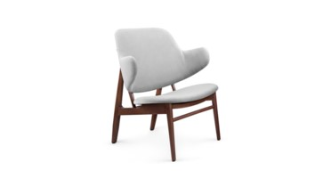 Elba Velvet Lounge Chair, Gray