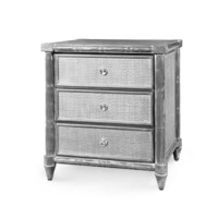 Fairfax 3-Drawer  Side Table, Gray