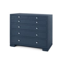 Frances 6-Drawer, Navy Blue