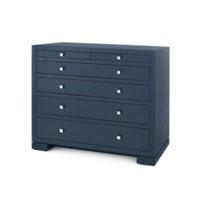 Frances 6-Drawer, Navy Blue