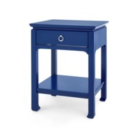 Harlow 1-Drawer Side Table, Navy Blue