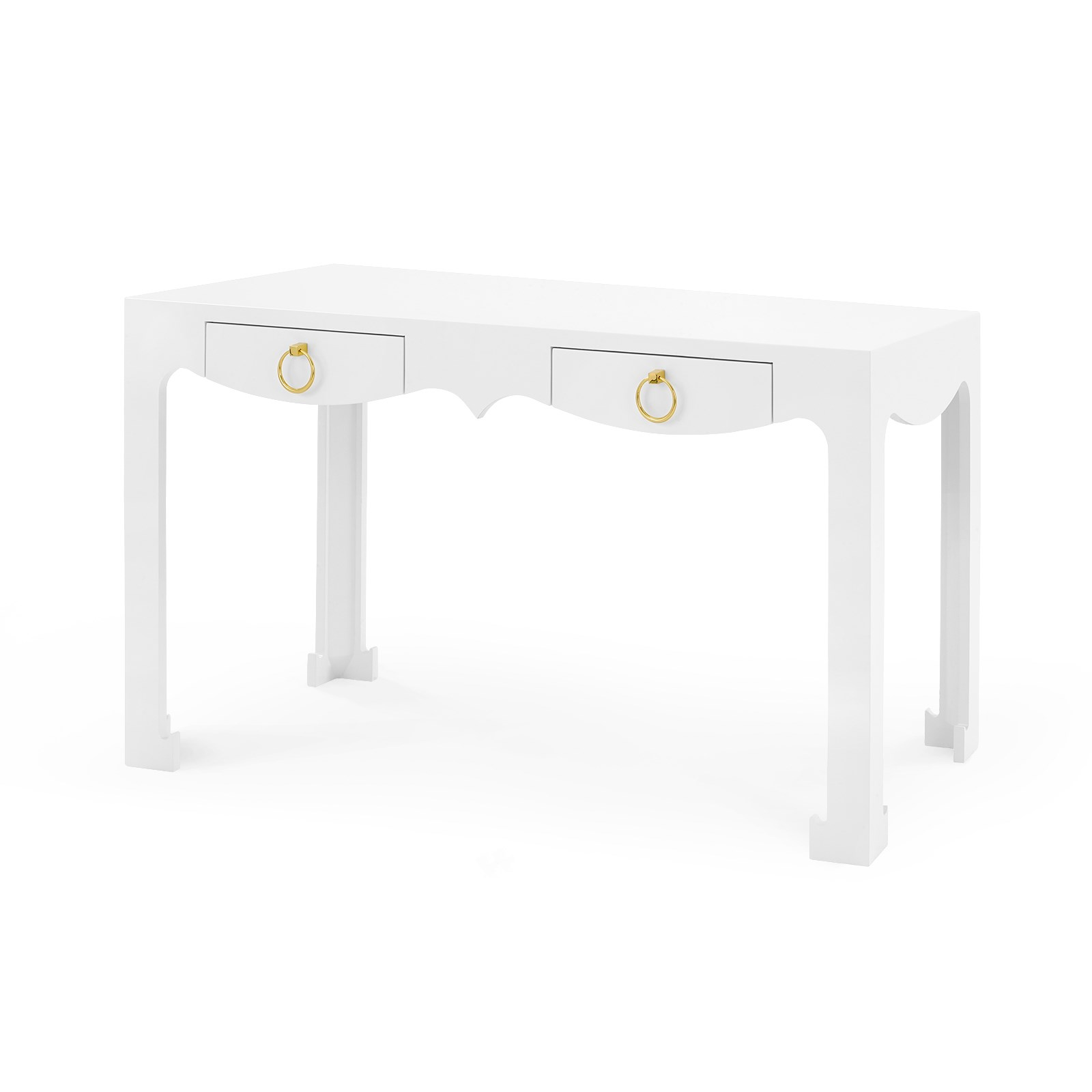 Jordan console desk white bungalow 5 for Bungalow 5 desk