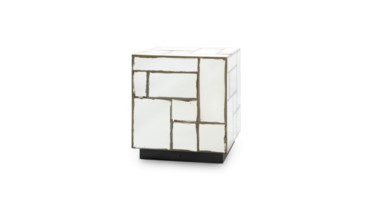 Leger Side Table, Antique Mirror
