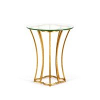 Magnolia Side Table, Gold