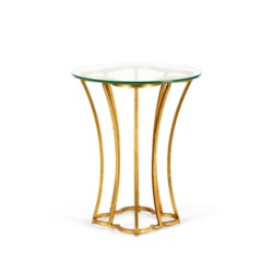 'Magnolia Side Table, Gold