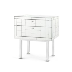 'Modrian 2-Drawer Side Table, Mirror