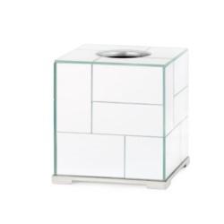 'Modrian Tissue Box, Silver
