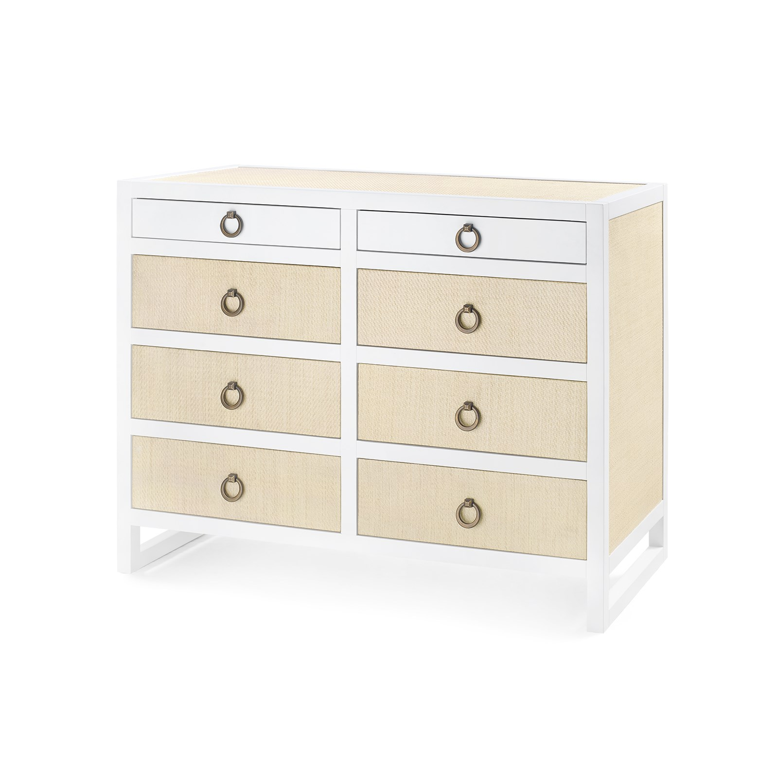 mallet 6 drawer white bungalow 5 white lacquered