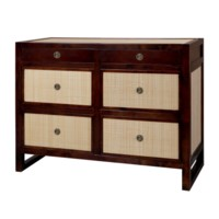 Mallet  6-Drawer, Walnut