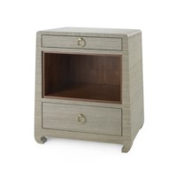 Ming 2-Drawer Side  Table, Sage Green