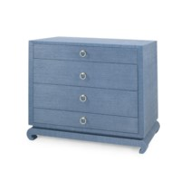 Ming Large 4-Drawer, Navy Blue
