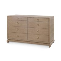 Ming Extra Large  8-Drawer, Brown