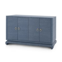 Meredith 4-Door Cabinet, Navy Blue