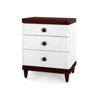 Montclair 3-Drawer Side Table, Off-White