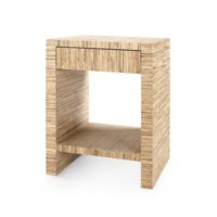Morgan Papyrus 1-Drawer Side Table, Natural