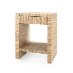 'Morgan Papyrus 1-Drawer Side Table, Natural