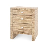 Morgan Papyrus 3-Drawer Side Table, Natural