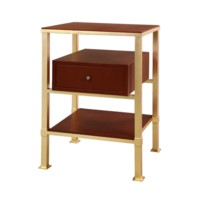 Marcel 1-Drawer Side Table, Gold