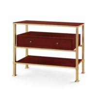 Marcel 1-Drawer Console Table, Gold