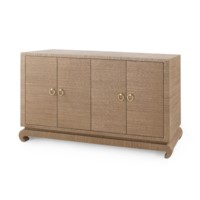 Meredith 4-Door  Cabinet, Brown